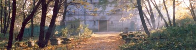 храм Усекновения. кладбище. осень. старое фото