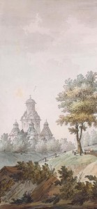храм Усекновения на рисунке Джиакомо Кваренги (фрагмент)