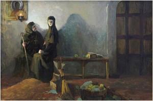 Соломония Сабурова. Смирение. Картина П.В, Минеевой, 2007 Холст. Масло.