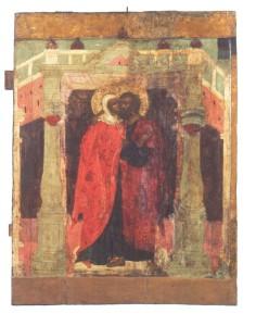 Зачатие Праведной Анны. Икона XVI века