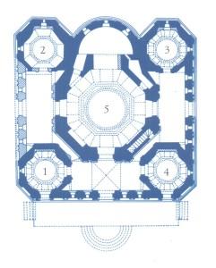План храма Первый этаж с указанием приделов