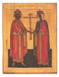 Икона Святых Константина и Елены XVI век